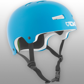 TSG Helm Evolution Solid Colors Gr. L/XL - satin dark cyan - matt blau