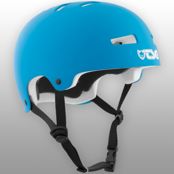 TSG Helm Evolution Youth Kids Solid Colors Gr. XXS/XS - satin dark cyan - matt blau