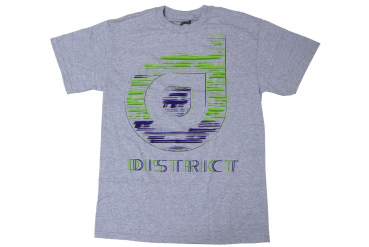 "District T-Shirt ""Sketch"" - Gr. M - grey - grau"