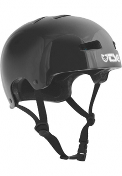TSG Helm Evolution Youth Kids Solid Colors Gr. XXS/XS - injected black - schwarz glänzend